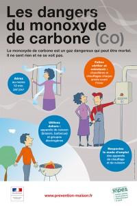 Les dangers du monoxyde de carbone - affiche 2015