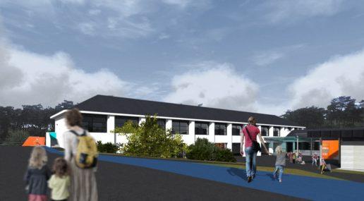 Les futurs bâtiments de lécole Joubert à Chalonnes-sur-Loire