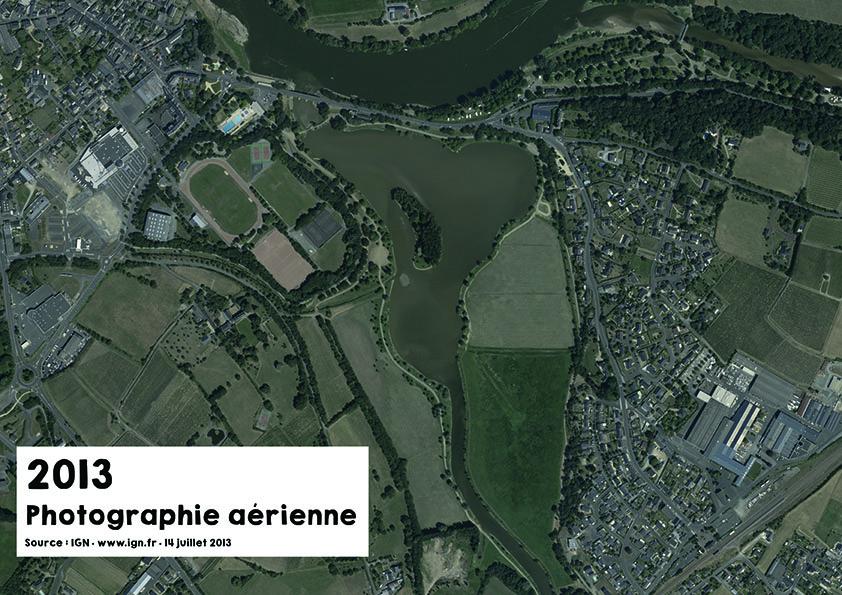 Vue aérienne du Layon en 2013 - Source : ign.fr