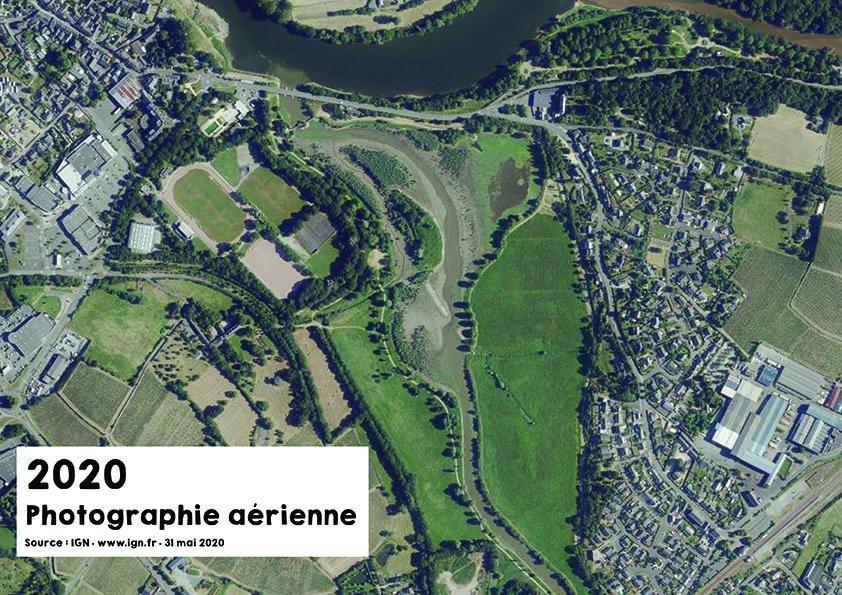 Vue aérienne du Layon en 2020 - Source : ign.fr